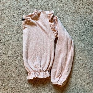 Forever 21 Cropped Ruffled Sweater   S